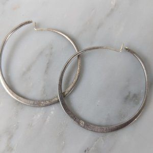 Banana Republic Silver Hoops